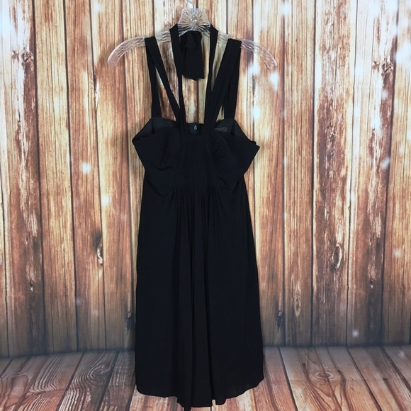 17c88a5c6 BCBGMaxAzria Dresses | Black Pleated Tieneck Babydoll Dress | Poshmark
